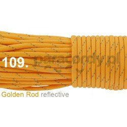 Paracord 550 linka kolor golden rod reflective