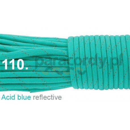 Paracord 550 linka kolor acid blue reflective