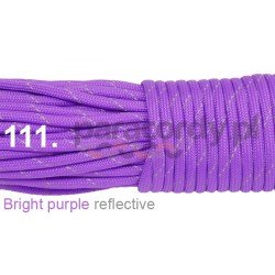 Paracord 550 linka kolor bright purple reflective