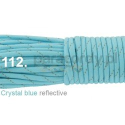 Paracord 550 linka kolor crystal blue reflective
