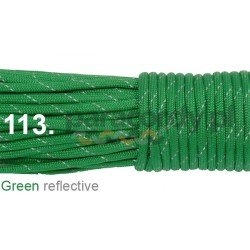 Paracord 550 linka kolor green reflective
