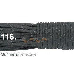 Paracord 550 linka kolor gunmetal reflective