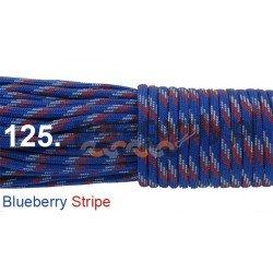 Paracord 550 linka blueberry stripe