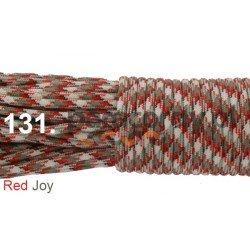 Paracord 550 linka kolor red joy