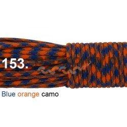 Paracord 550 linka kolor blue orange camo