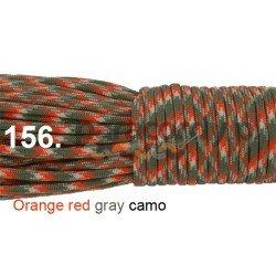 Paracord 550 linka kolor orange red grey camo