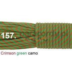 Paracord 550 linka kolor crimson green camo