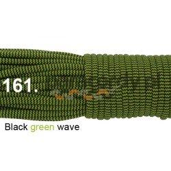 Paracord 550 linka kolor black green wave