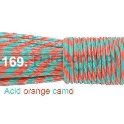Paracord 550 linka kolor acid orange camo