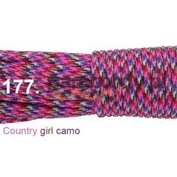Paracord 550 linka kolor country girl camo