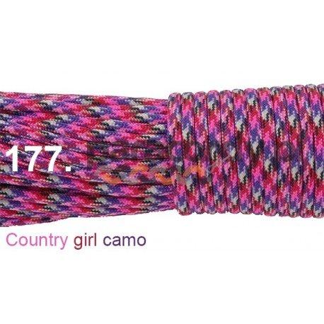Paracord 550 linka kolor country girl camo