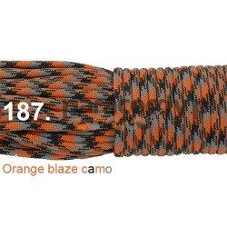Paracord 550 linka kolor orange blaze camo