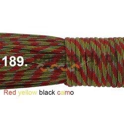 Paracord 550 linka kolor red yellow black camo