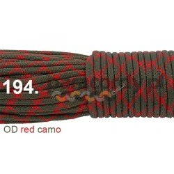 Paracord 550 linka kolor OD red camo