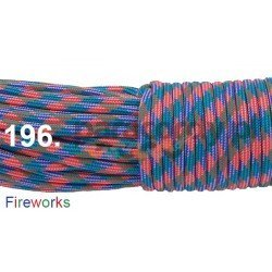 Paracord 550 linka kolor fireworks