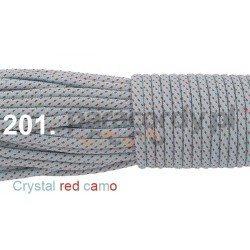 Paracord 550 linka crystal red camo