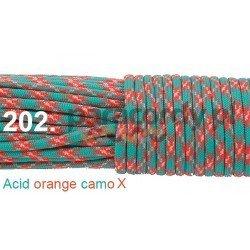 Paracord 550 linka kolor acid orange camo x