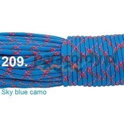 Paracord 550 linka kolor sky blue camo