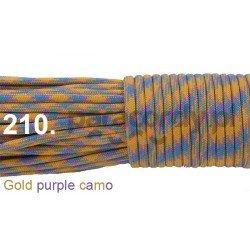 Paracord 550 linka kolor gold purple camo
