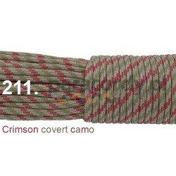 Paracord 550 linka kolor crimson covert camo