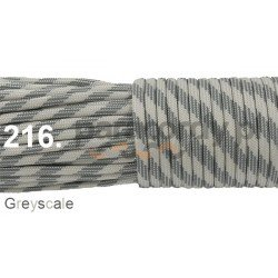 Paracord 550 linka kolor greyscale