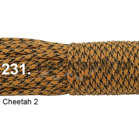 Paracord 550 linka kolor cheetah 2