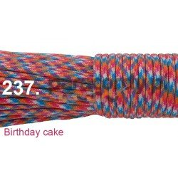 Paracord 550 linka kolor birth day cake
