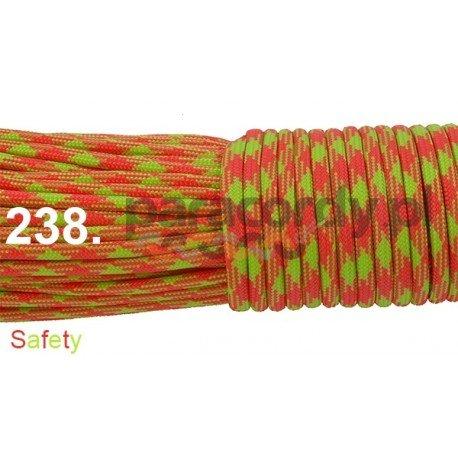 Paracord 550 linka kolor safety