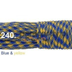 Paracord 550 linka kolor blue & yellow