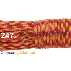 Paracord 550 linka kolor crimson golden rod
