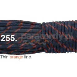 Paracord 550 linka kolor thin orange line