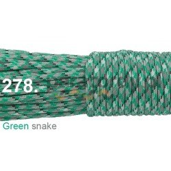 Paracord 550 linka kolor green snake