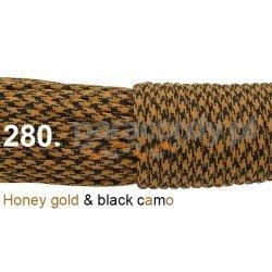 Paracord 550 linka kolor honey gold black camo