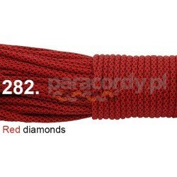 Paracord 550 linka kolor red diamonds