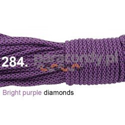 Paracord 550 linka kolor bright purple diamonds
