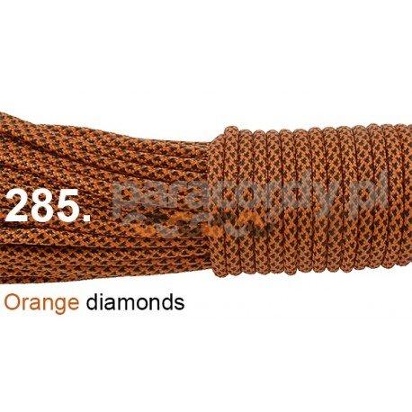 Paracord 550 linka kolor orange diamonds
