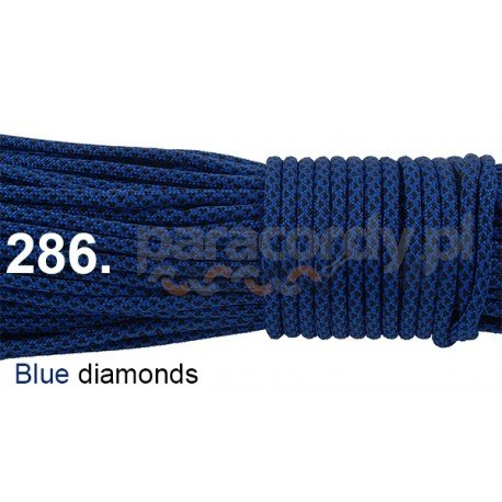 Paracord 550 linka kolor blue diamonds