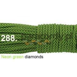 Paracord 550 linka kolor neon green diamonds
