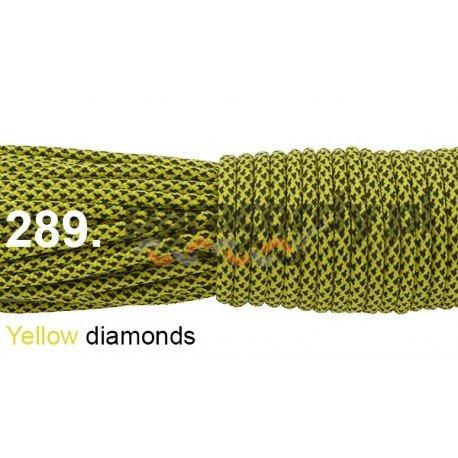 Paracord 550 linka kolor yellow diamonds