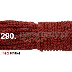 Paracord 550 linka kolor red snake