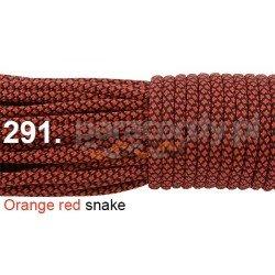 Paracord 550 linka kolor orange red snake