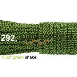 Paracord 550 linka kolor fluor green snake