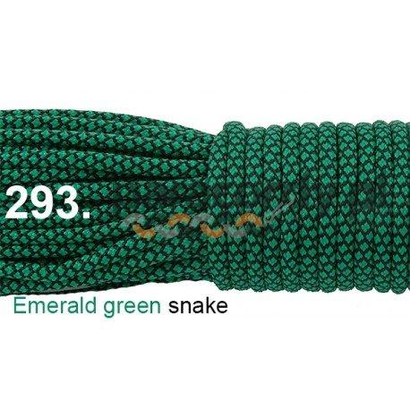 Paracord 550 linka kolor emerald green snake