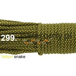 Paracord 550 linka yellow snake