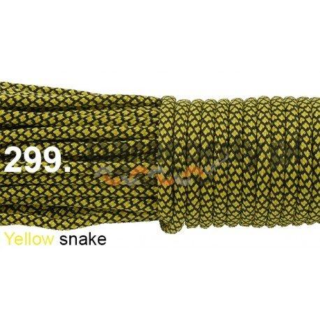 Paracord 550 linka yellow snake