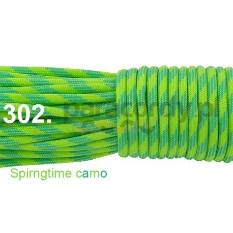 Paracord 550 linka kolor spring time camo