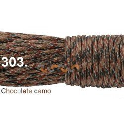 Paracord 550 linka kolor chocolate camo