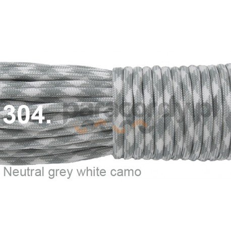 Paracord 550 linka kolor neutral grey white camo