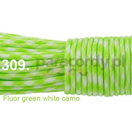 Paracord 550 linka kolor fluor green white camo