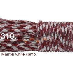 Paracord 550 linka kolor marron white camo